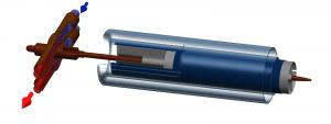 Коаксиальная вакуумная трубка heatpipe с двухтрубным манифолдом