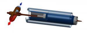 Вакуумная трубка heatpipe с однотрубным манифолдом